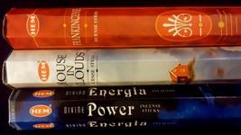 POWER Frankincense House In Clouds 60 HEM Incense Stick 3 Scent Sampler Gift Set - $6.00