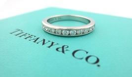 Tiffany & Co Platinum .33CT Diamond 3MM Shared Eternity Wedding Band Size 5 - $1,813.50