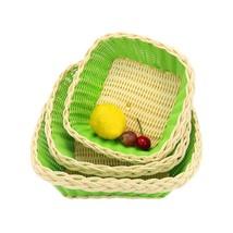 Home Storage Organization Druable Waterproof Rattan Storage Baskets Oval... - $20.20