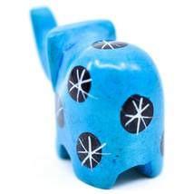 Tabaka Chigware Hand Carved Kisii Soapstone Mini Light Blue Elephant Figurine image 2