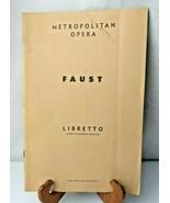 Metropolitan Opera FAUST Libretto French English 1954 book - $14.00