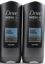 2 Dove Men Care Cool Fresh Micro Moisture Body & Face Wash 13.5oz Bottles - $30.99