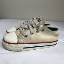 Converse All Star Chuck Taylor Baby Toddler 8c USA Cream Low Top 70s 80s... - $39.99
