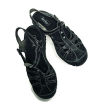 Jambu All Terra Sport Sandals Outdoor Shoes Womens Size 6 Black Leather - $23.59