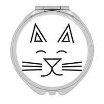 Love Kitty : Gift Compact Mirror Cute Funny Cat Mom Dad Mustache Cats Ca... - $12.99