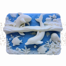Ocean Life - Detail of high relief sculpture,silicone mold, soap mold - $24.39