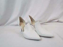 NIB Kenneth Cole Open Side High Heel White Leather Pump Sz 9 M Classy! - $103.73