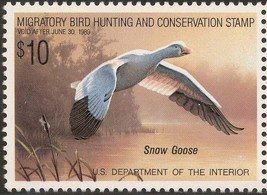 RW55, Snow Goose Federal Duck Stamp VF OG NH - Stuart Katz - $12.50