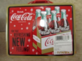 """Coca-Cola Tin Lunch Box """"For That  Refreshing NEW Feeling"""" - BRAND NEW - $13.37"""