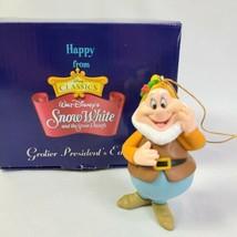 Disney Happy Snow White Christmas Ornament Grolier Presidents Edition - $23.95
