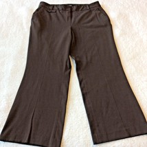 Talbots Dress Pants Size 14 Brown Signature Boot Womens Stretch Career O... - $18.86
