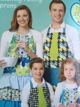 Ellie Mae Designs Sewing Pattern K0209 Colourful Matching Family Aprons New - $13.10
