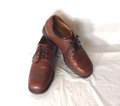 Florsheim Casual Dress Shoes Men Size 8M Brown Leather Lace Up  - $29.68