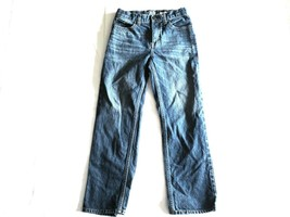 Oshkosh Denim Straight Cut Blue Jeans Boys Sz 10 R 100% Cotton Adjustabl... - $6.49