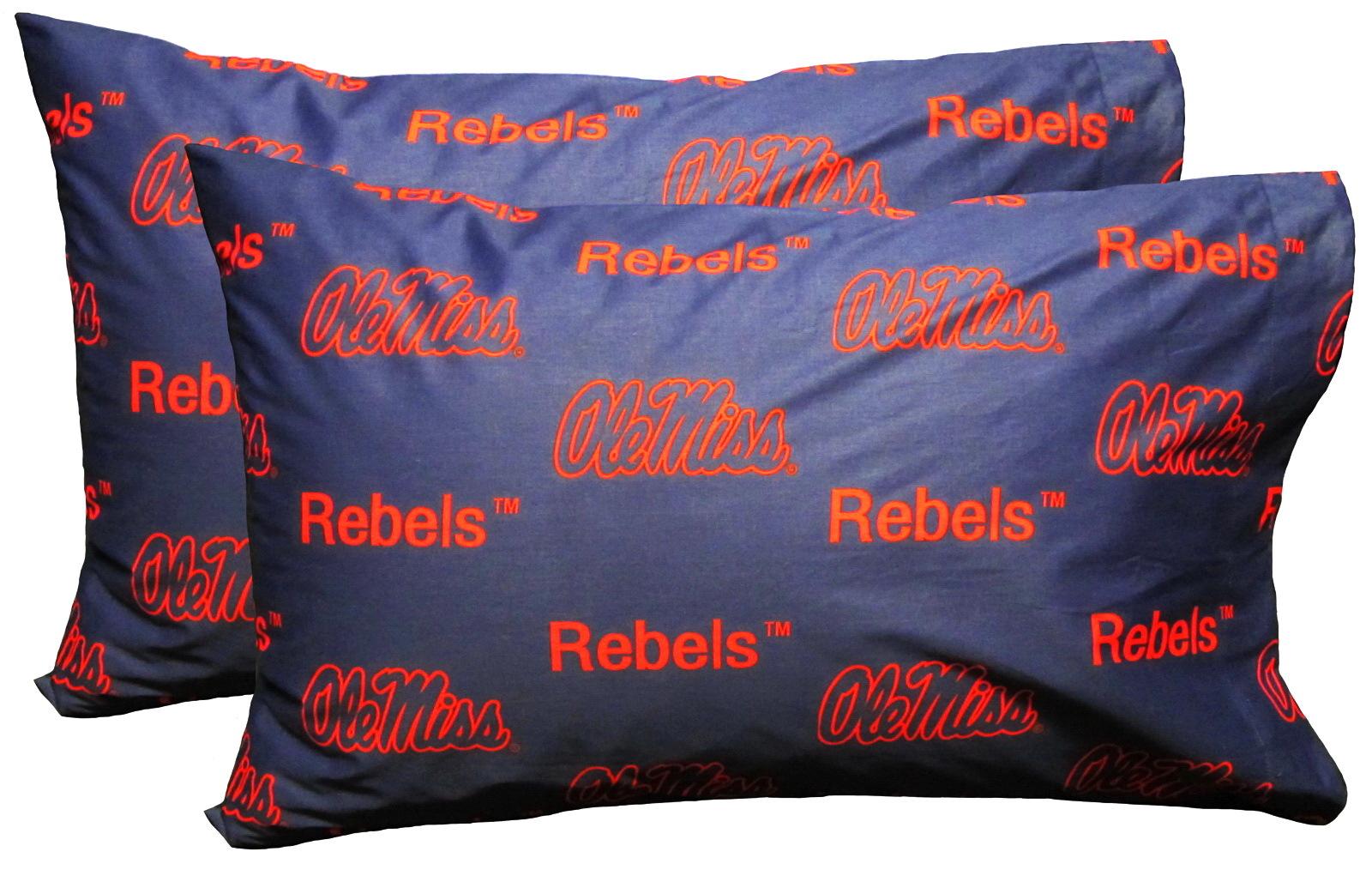 Mississippi Rebels Full Sheet Set Cotton Team Color Ole Miss