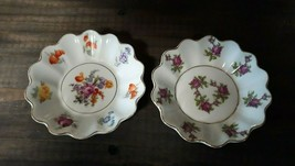 Vintage Dresden flower style Czechoslovakian porcelain dishes by Concord... - $14.50