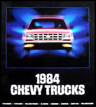 1984 Chevy Chevrolet Truck Original Sales Brochure Blazer El Camino GM 84 - $4.10