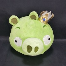 "Angry Birds Green King Pig Gold Crown 5"" Plush NO SOUND 2010 - $17.81"