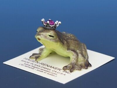 Birthstone Frog Prince Kissing October Tourmaline Miniatures by Hagen-Renaker
