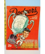 1970 Los Angeles Dodgers Baseball Scorecard Partial Scored  #A - $9.99
