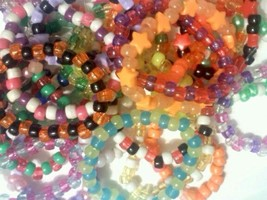 Mystery 20 Single Kandi Bracelets - EDM RAVE KANDI PLUR EDC Stretchy String - $14.24