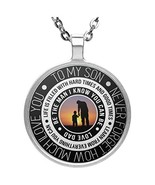 Personalized To My Son Necklace Jewelry - Life Is Filled With Hard Times... - $24.70