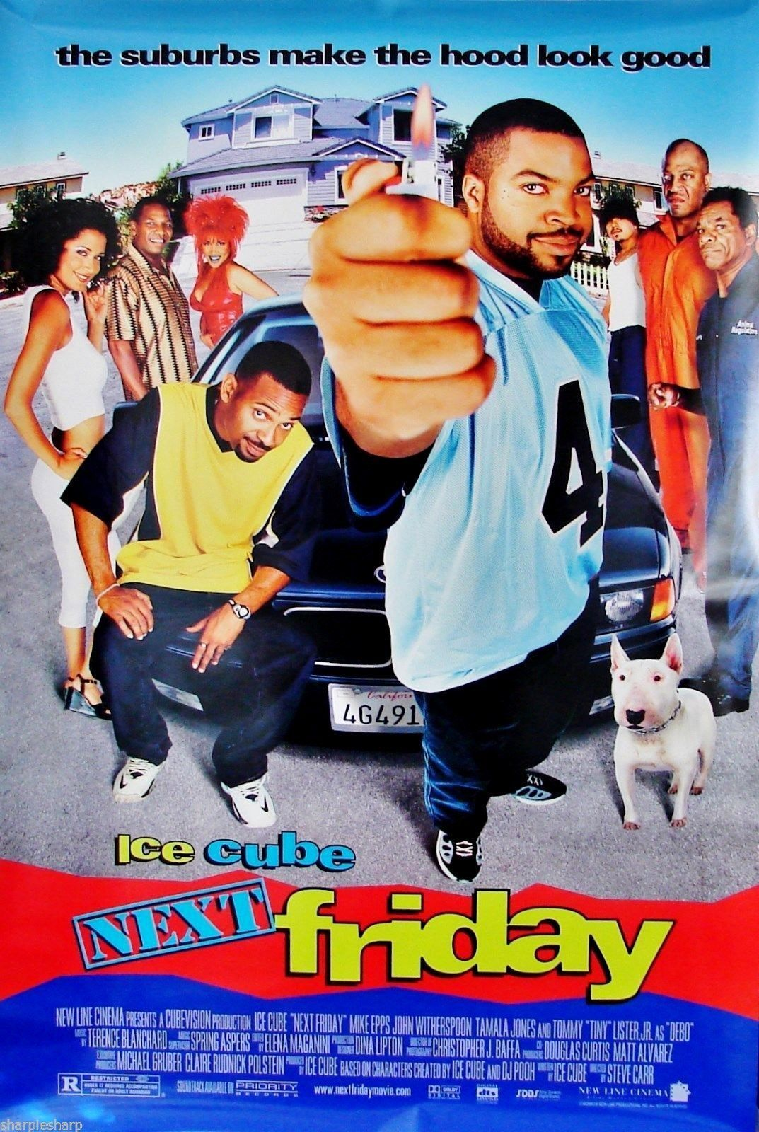 """2000 NEXT FRIDAY Movie POSTER 27x40""""  Ice Cube Mike Epps Tiny Lister Amy Hill"""