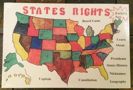 States Rights Board Game - Educational American History / Geography Trivia Game - $7.56