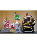 Lot of 5 M&M's CANDY DISPENSERS: Lion Dance, Slot machine, Statue, Plane... - $395.01