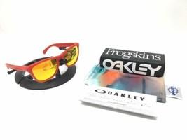 Oakley Frogskins OO9013-92 Mat Cadre Rouge Feu Iridium Lunettes de Solei... - $98.98