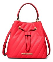 MICHAEL MICHAEL KORS Suri Small Quilted Crossbody Bag Coral MSRP: $398.00 - $158.39