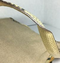 Brahmin Beige Fabric and Reptile Print Trim Shoulder Bag- Well Worn image 10