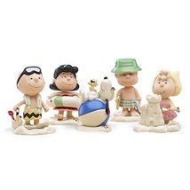 Lenox Peanuts Summer Beach Party Figurines 5 PC Charlie Brown Snoopy Luc... - $139.59
