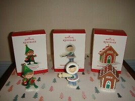 Hallmark 2014 Merry Makers Elf, Frosty Friend, & Gingerbread House Ornam... - $37.99