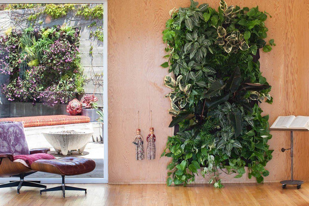 7 Pockets Outdoor Indoor Vertical Garden Planting Bag Hanging Wall Balcony