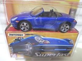 Matchbox 2005 Superfast Blue #56 PORSCHE BOXTER Car New Mint Boxed  - $17.81