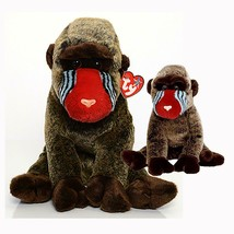 Cheeks the Baboon Ty Beanie Baby and Buddy Set Retired MWMT Collectible - $22.72