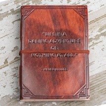 """A Daring Adventure"" Handmade Leather Journal - $40.00"