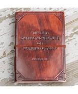 """A Daring Adventure"" Handmade Leather Journal - $40.00"