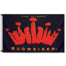 BUDWEISER KING FLAG 3x5FT BANNER Black and Red - $17.99