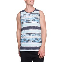 George Men's Tank Top Size X-Large 46-48 Blue Floral Island Graphic Color NEW - $9.89