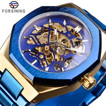 Mechanical men watch AutomaticBlue Stainless Waterproof Business - $58.48