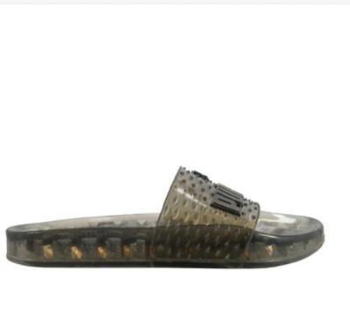 Puma Women's Fenty by Rihanna Black Jelly Slide 36577302 Sandals/Flip Flops NIB image 2