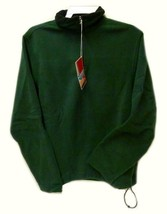 Fleece Jacket Old Navy Uniform Unisex Hunter Green 1/4 Zip Performance M... - $29.07