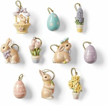 Lenox Celebrate Easter Miniature Tree Ornaments Set Of 10 Bunny Egg Flow... - $103.95