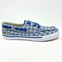 Lacoste Keel Canvas Dark Blue Natural White Loafer Boat Casual Shoes - $64.95