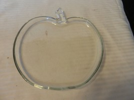 """Vintage Clear Glass Apple Shape Serving Plate with Stem 8"""" x 7"""" - $22.28"""