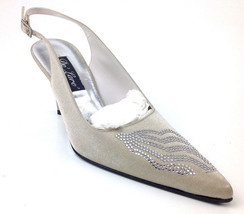 "Stuart Weitzman Women's ""Dazzling"" Heels Color Oyster Sparkle Size US 6.5 C - $59.39"