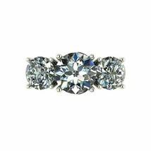 2.40Ct Round Cut White Three Diamond Engagement Ring in Solid 14K White ... - £201.08 GBP