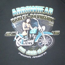 LARGE Big Jugs Club 2016 Harley Davidson Peoria AZ Arrowhead T Shirt - $19.75